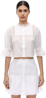 SIR the Label Maci Cotton Voile Blouse