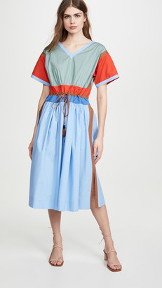 Tory Burch Colorblock Poplin Dress