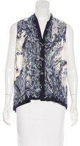 Hermes Printed Sleeveless Top