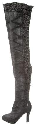 Chanel Thigh-High CC Boots