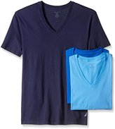 Nautica Men's 3-Pack Cotton V-Neck T-Shirt
