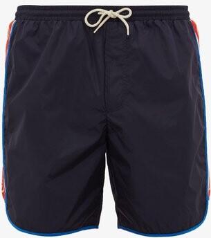 Gucci Logo-stripe Swim Shorts - Mens - Navy