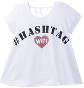 Ten Sixty Sherman Hashtag WiFi Lattice Back Tee (Big Girls)