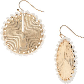 BP Seed Bead Disc Drop Earrings