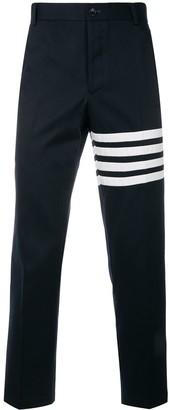 Thom Browne 4-Bar motif print trousers