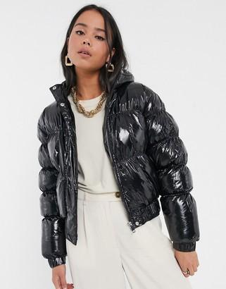 Brave Soul abiona vinyl padded jacket