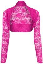 GirlzWalk ® Women Long Sleeve Lace Open Front Crop Shrug