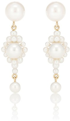 Sophie Bille Brahe Venezia 14kt gold earrings with pearls