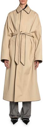 Balenciaga Wrapped Cotton Cocoon Coat