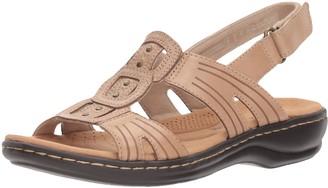 Clarks Leisa Vine Sand Leather 6 C - Wide