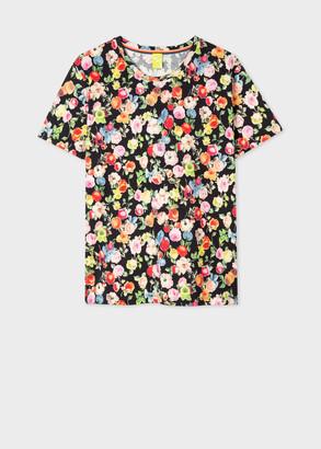 Paul Smith Women's 'Archive Rose' Print Cotton T-Shirt
