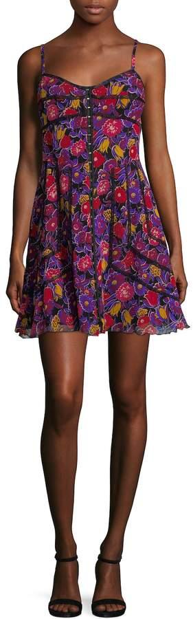 Anna Sui Women's Floral Print Mini Dress
