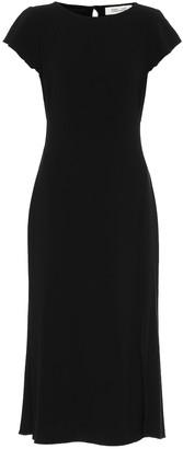 Diane von Furstenberg Lourdes crepe midi dress