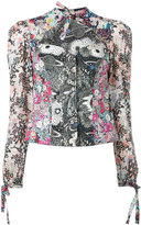 Olympia Le-Tan Liberty print blouse - women - Cotton - 36
