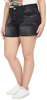 Rock and Roll Cowgirl High-Rise Denim Shorts in Steel Wash 68H8202