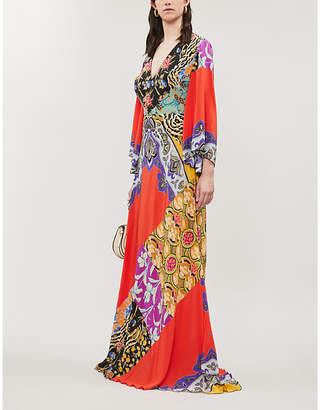 Etro Somerset Floral-Print Silk-Crepe Maxi Dress