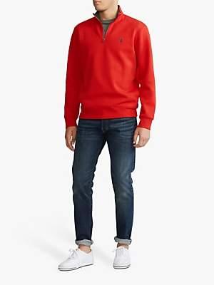 Ralph Lauren Polo Half Zip Jumper, Red