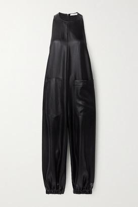 Tibi Celia Layered Silk-crepe And Charmeuse Jumpsuit