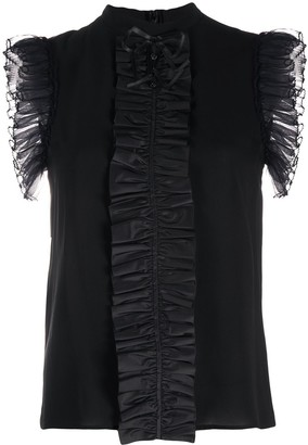 Gucci Panelled Collar Sleeveless Top