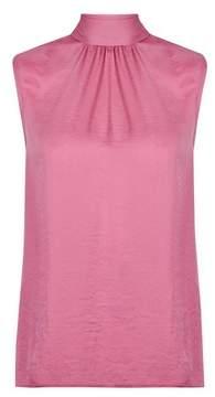 Dorothy Perkins Womens Pink Tie Back Sleeveless Top, Pink