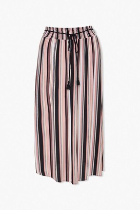 Forever 21 Plus Size Striped Maxi Skirt