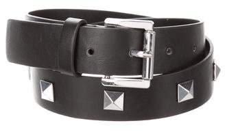 Michael Kors Leather Studded Belt