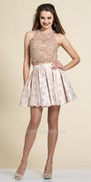 Dave and Johnny Box Pleated Two Piece Homecoming Dress