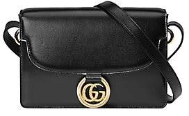 Gucci Women's Small GG Ring Leather Shoulder Bag