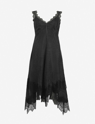 AllSaints Skylar lace-trimmed woven midi dress