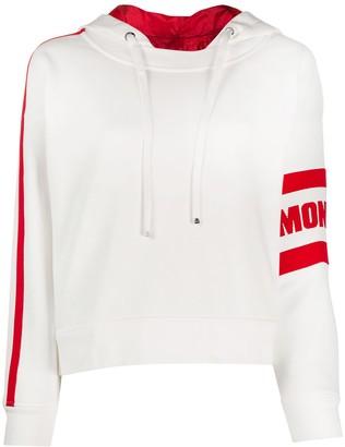 Moncler Logo-Stripe Drawstring Hoodie