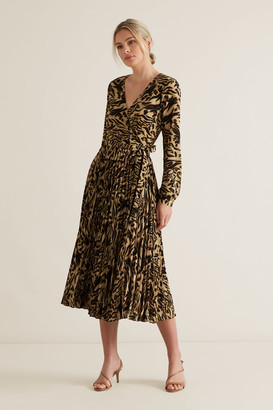 Seed Heritage Animal Wrap Dress