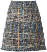 Etro raw edge tweed skirt