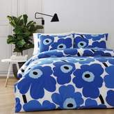 Marimekko Unikko King Duvet Cover Set in Blue