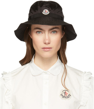 Moncler Black Logo Bucket Hat