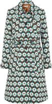 Miu Miu Printed wool-crepe coat