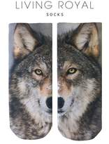 LIVING ROYAL Wolf Ankle Socks