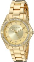 Rampage Women's 'Crystal Dial Band' Quartz Metal and Alloy Automatic Watch, Color:d (Model: RP1073GD)