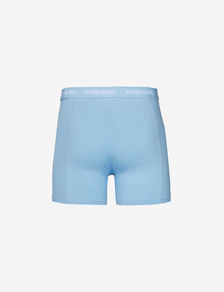 Bjorn Borg Pack of five mid-rise classic-fit stretch-cotton trunks