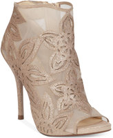 Jessica Simpson Bliths Floral & Mesh Peep-Toe Ankle Booties
