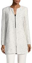 Karl Lagerfeld Tweed Long Jacket