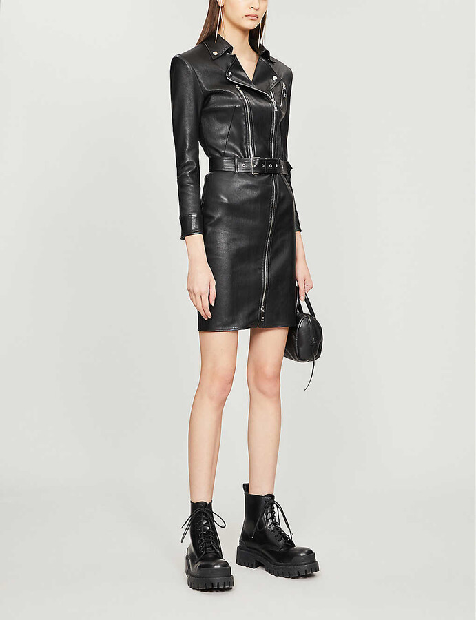 Thumbnail for your product : Jitrois Kristen belted leather dress