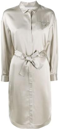 Fabiana Filippi Belted Shirt Dress