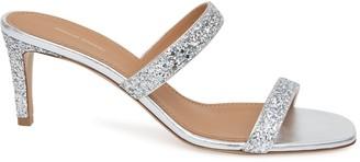 Mansur Gavriel Glitter Fino Sandal - Silver