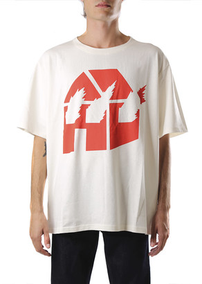 J.W.Anderson White And Red Cotton Jwa X Dw T-shirt