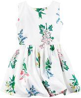 Carter's Toddler Girl White Floral Sateen Dress