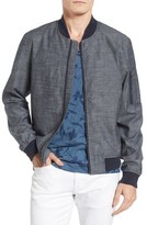 Original Penguin Men's Chambray Bomber Jacket