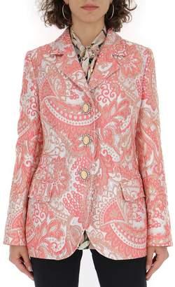 Dolce & Gabbana Jacquard Single Breasted Blazer