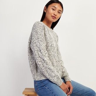 Roots Snowy Fox Cable Sweater