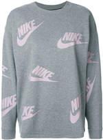 Nike logo print sweatshirt