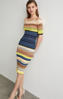 BCBGMAXAZRIA Striped Bodycon Pencil Skirt